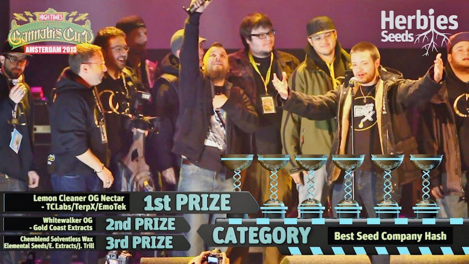 Amsterdam Cannabis Cup Winners 2013 * Awards Ceremony *
