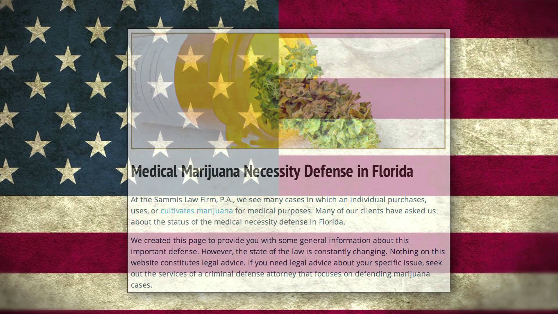 "Marijuana IS ""legal"" in Florida: Medical Marijuana History in the Sunshine State Amendment 2"